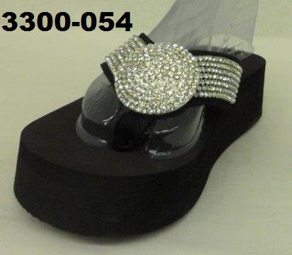 3300-054 BIG DOME BLING SANDALS