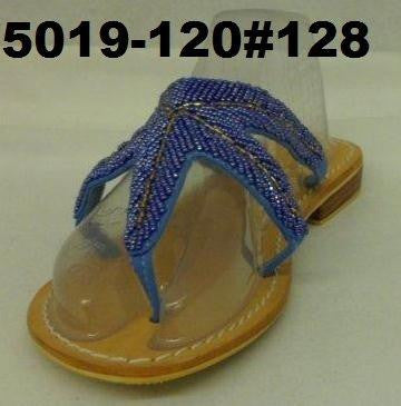 1-5019-120 Starfish sandal beaded hand made leather & non slip sole