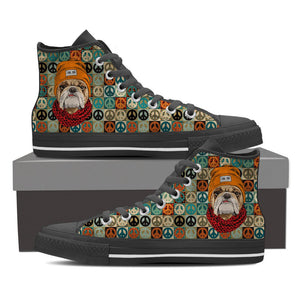 Women's Peace Maker Bulldog High Top Shoes