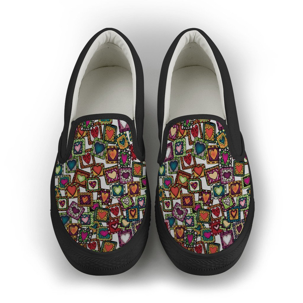Hearts Rock Women's Slip On Shoes