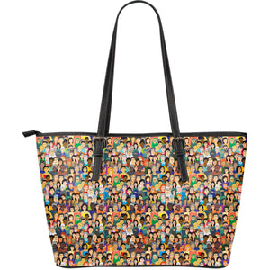 Diversity Rocks Large Leather Tote