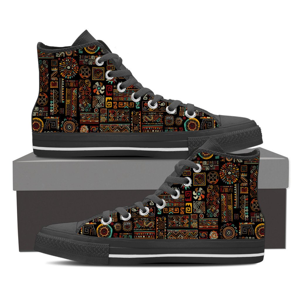Ancient Symbols Men's High Top Shoes