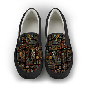 Ancient Symbols Women's Slip On Shoes
