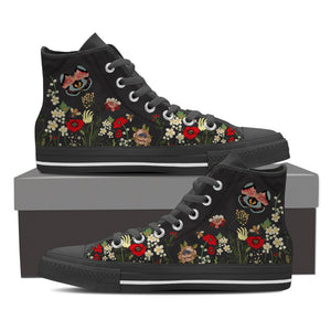 Wild Flower Night Women's High Top Shoes