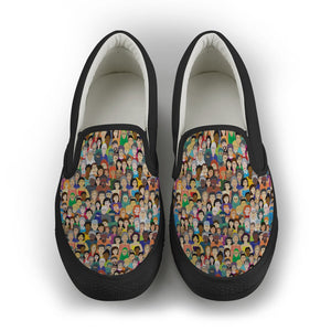 Diversity Rocks Women's Slip On Shoes