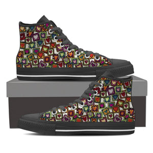 Hearts & More Hearts! Women's High Top Shoes