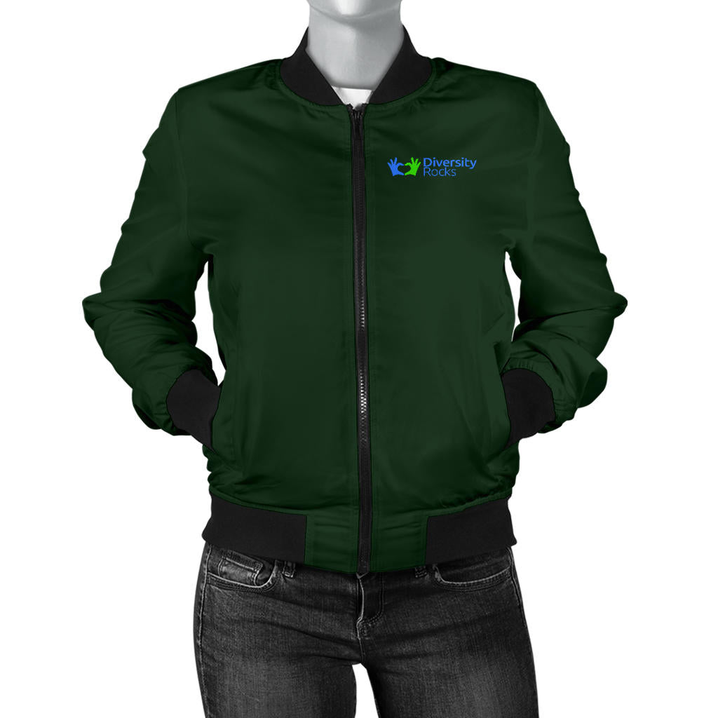 Green Diversity Rock Women's Bomber Jackets