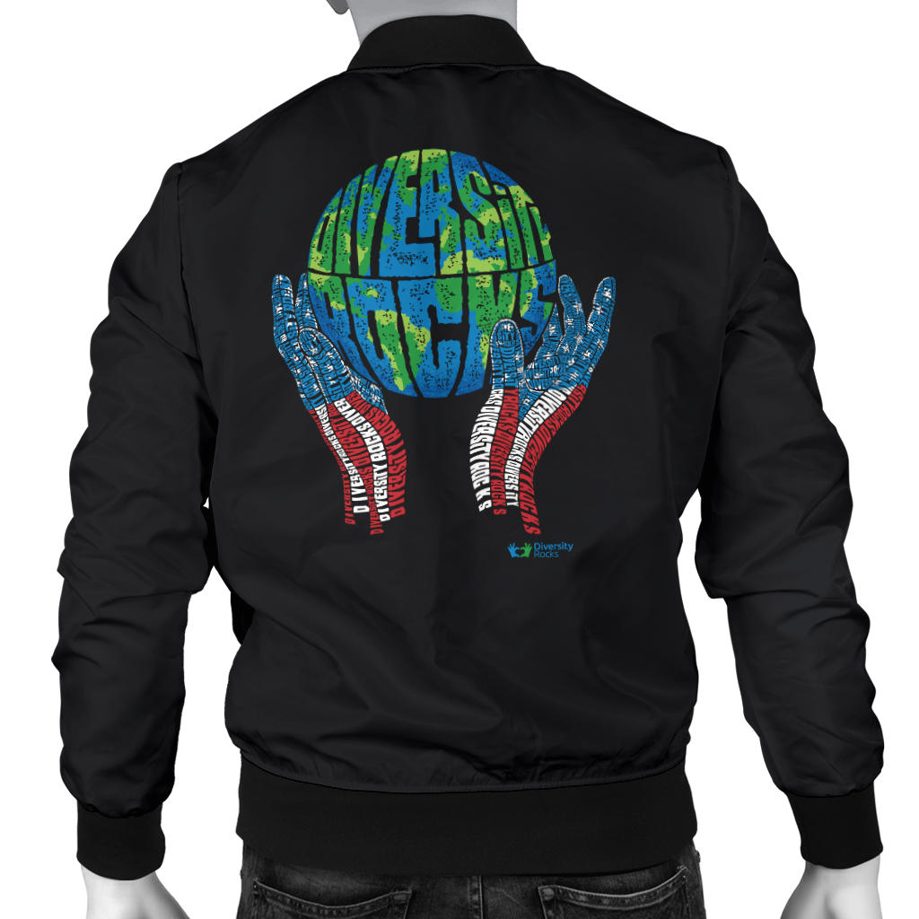 Black Diversity Rocks Men's Bomber Jacket