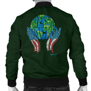 Green Diversity Rocks Men's Bomber Jacket