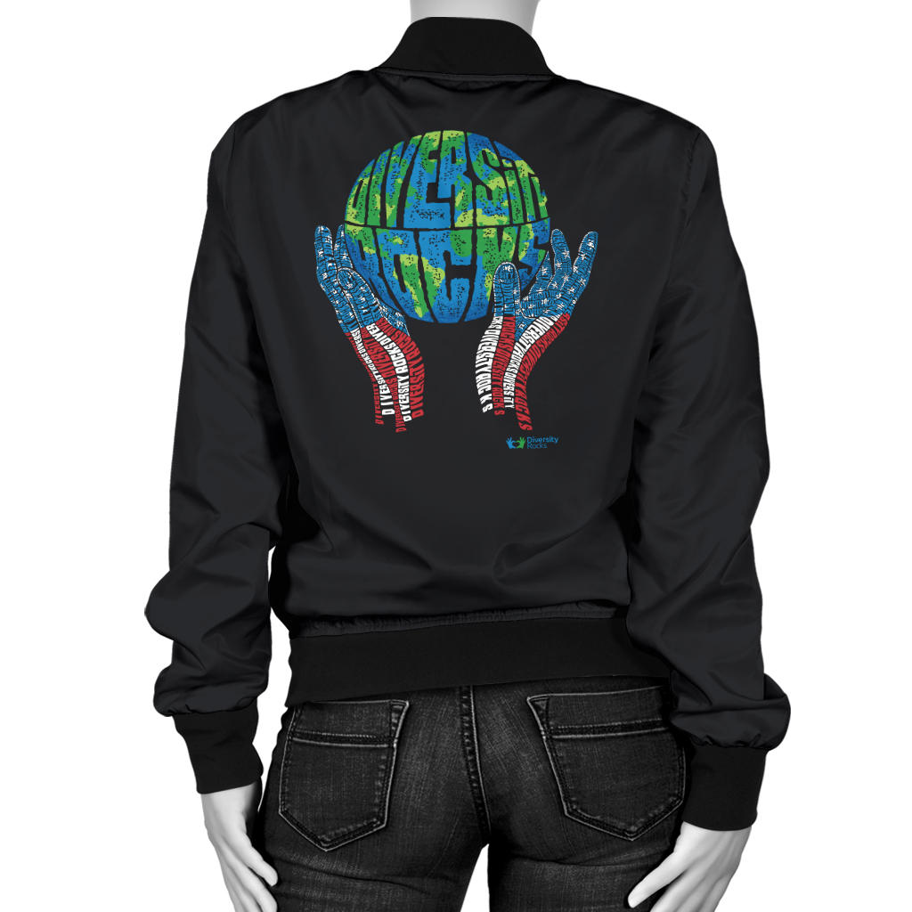 Black Diversity Rocks Women's Bomber Jacket