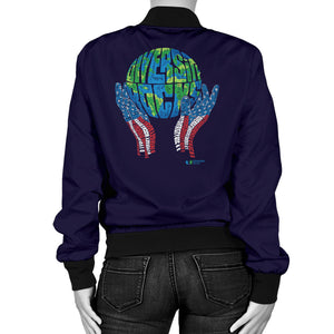 Navy Diversity Rocks Women's Bomber Jacket