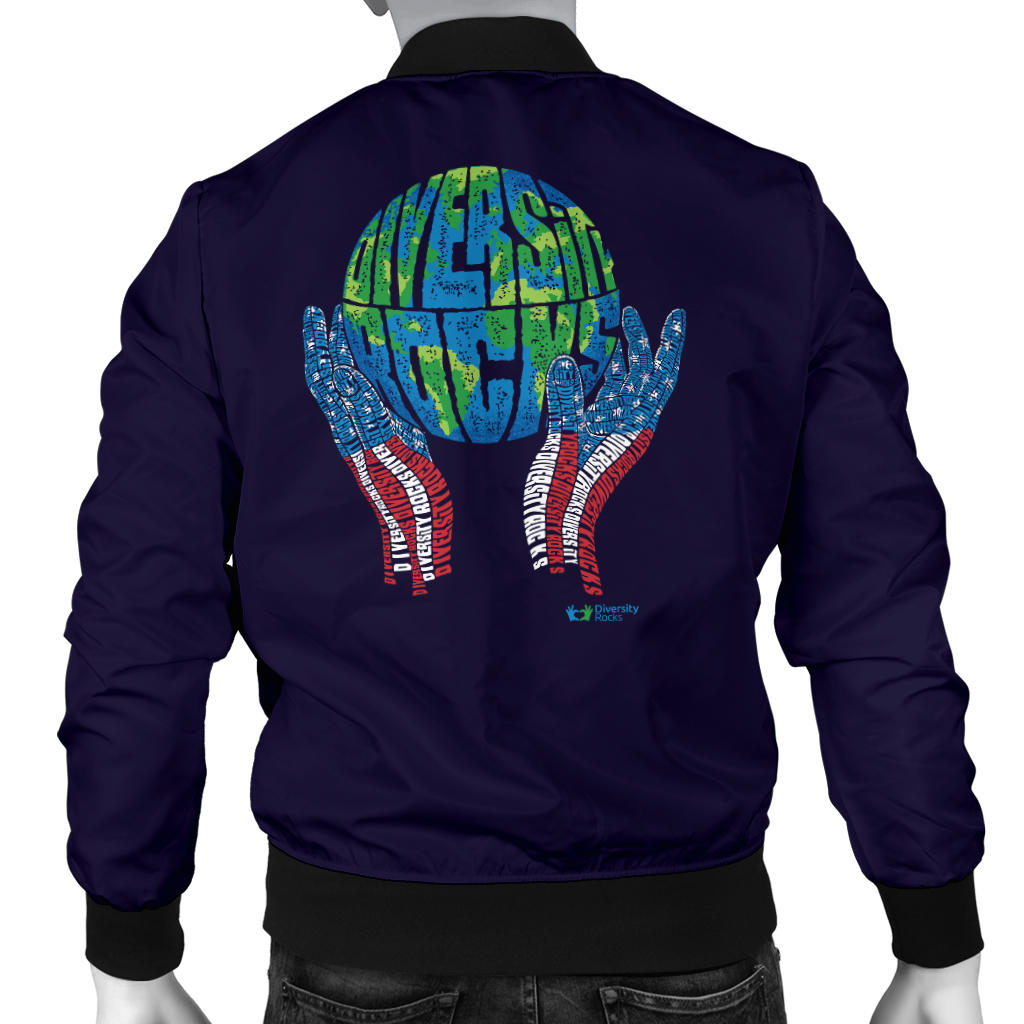 Navy Diversity Rocks Men's Bomber Jacket
