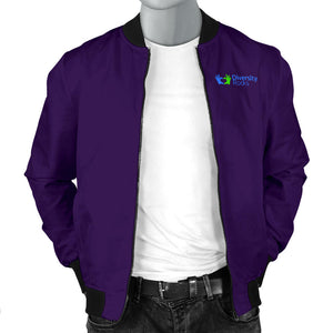 Dark Purple Diversity Rocks Men's Bomber Jacket