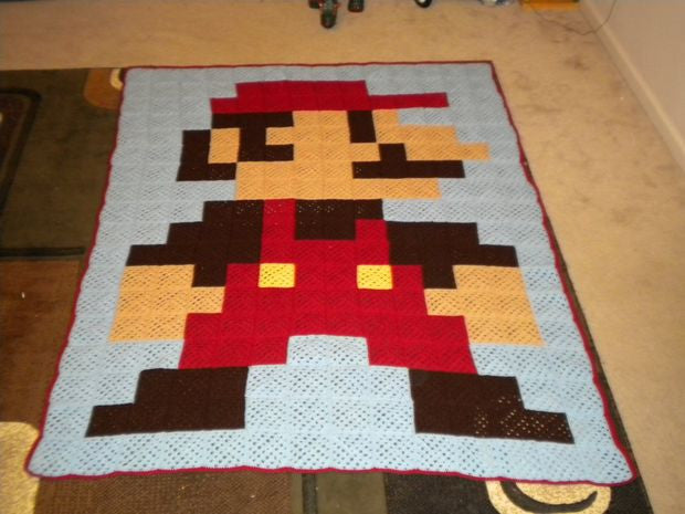 I Found a Thing : 8-Bit Super Mario Blanket Tutorial