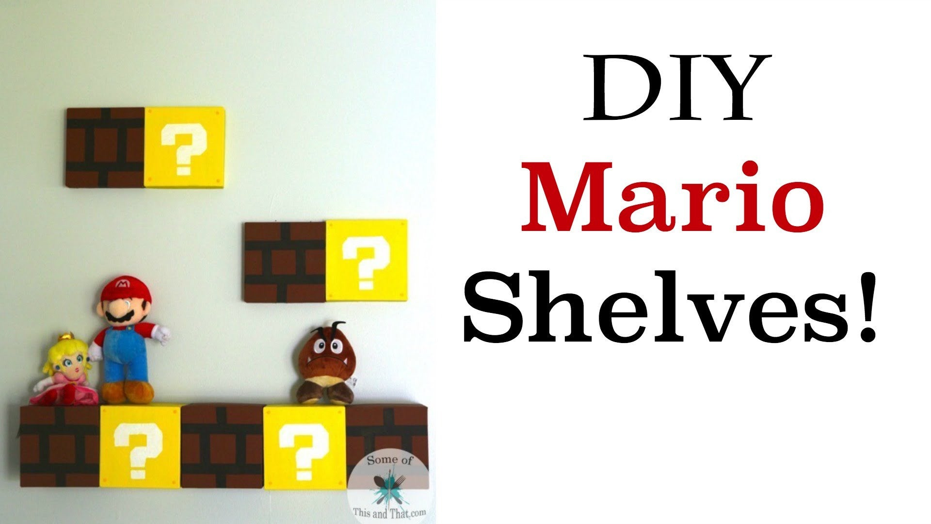 I Found a Thing - Super Mario Shelves DIY!