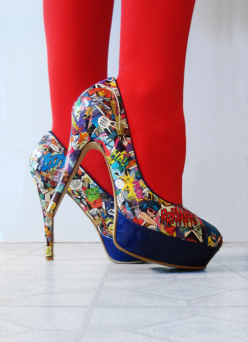 I Found a Thing : DIY Comic Book Heels