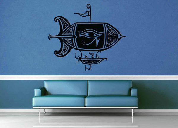 Airship - Steampunk - Wall Decal - geekerymade