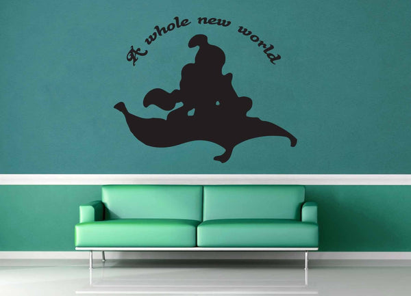 A Whole New World - Aladdin Quote - Wall Decal - geekerymade