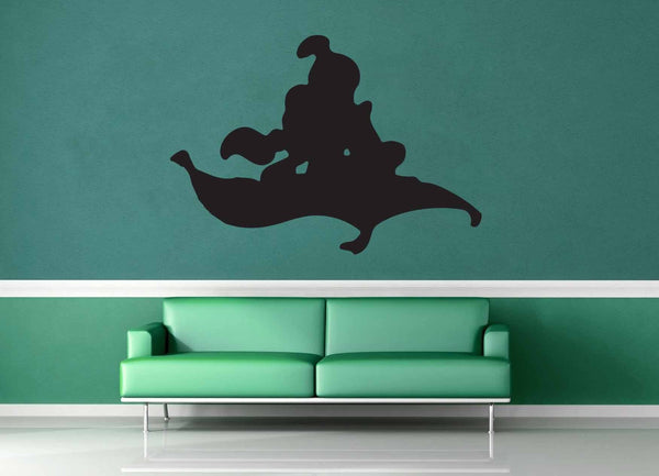 Aladdin and Jasmine Silhouette - Wall Decal - geekerymade