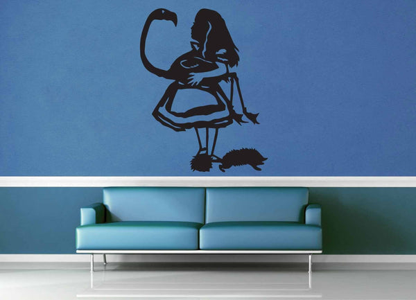 Alice in Wonderland Silhouette - Wall Decal - geekerymade