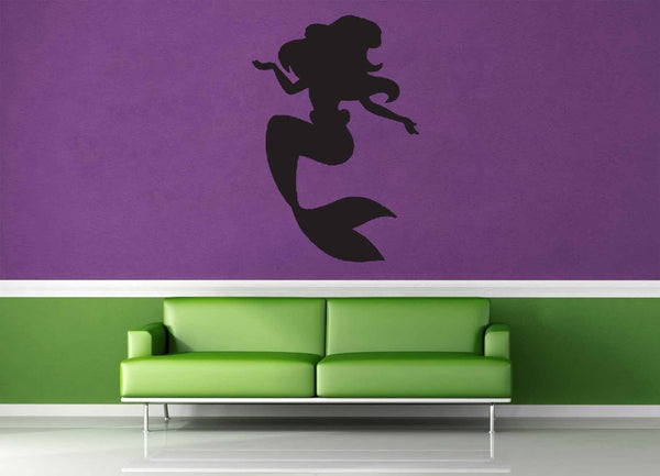 Mermaid Silhouette - Wall Decal - No 1 - geekerymade