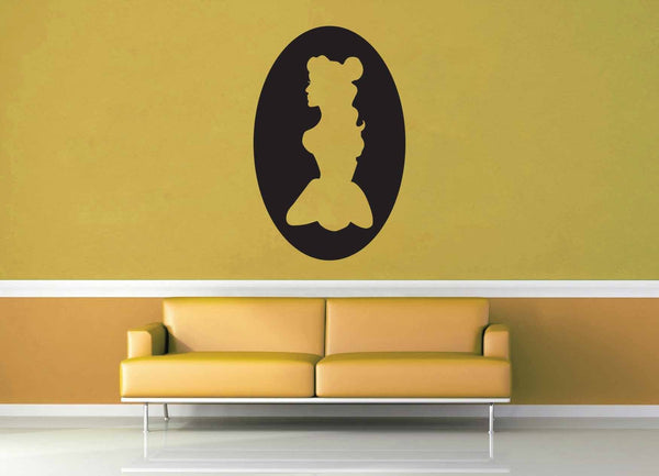 Belle Cameo - Wall Decal