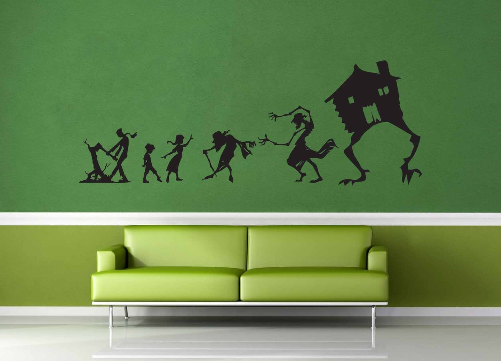 Baba Yaga Silhouette Set - Wall Decal