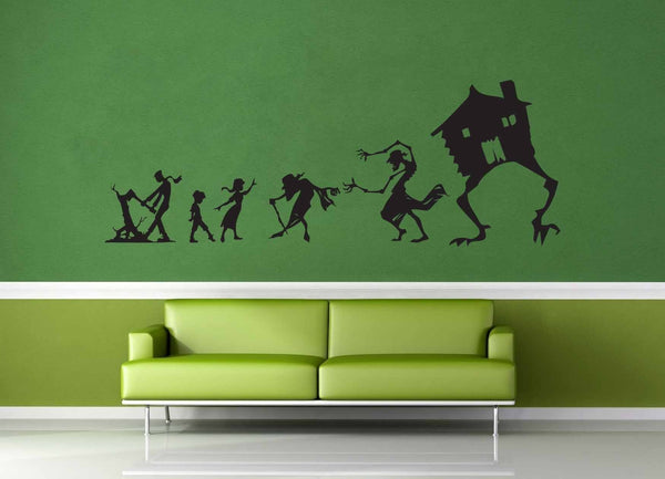 Baba Yaga Silhouette Set - Wall Decal - geekerymade