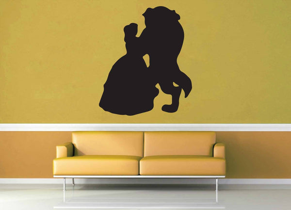 Beauty and the Beast Silhouette - Wall Decal - geekerymade