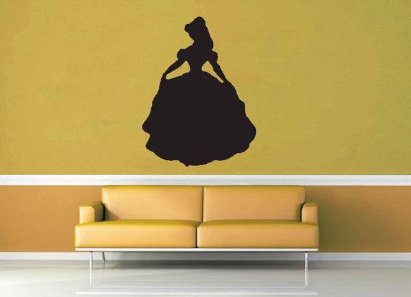 Belle Silhouette - Wall Decal - No 2 - geekerymade