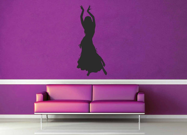 Belly Dancer Silhouette - Wall Decal - geekerymade