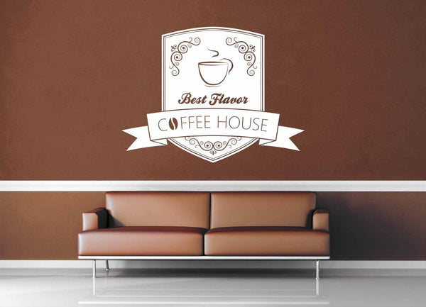 Best in Town Coffee - Vintage Café Sign - Wall Decal