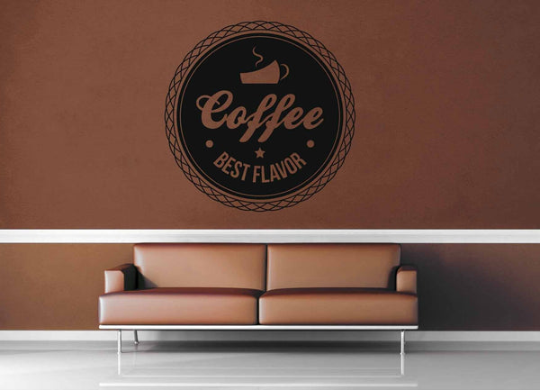 Best Flavor - Vintage Café Sign - Wall Decal - No 1