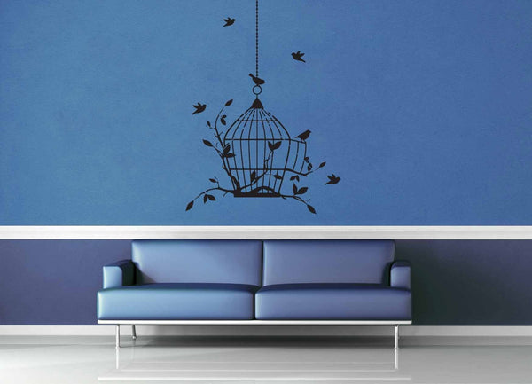 Bird Cage - Wall Decal - geekerymade