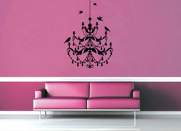Bird Chandelier - Wall Decal - geekerymade