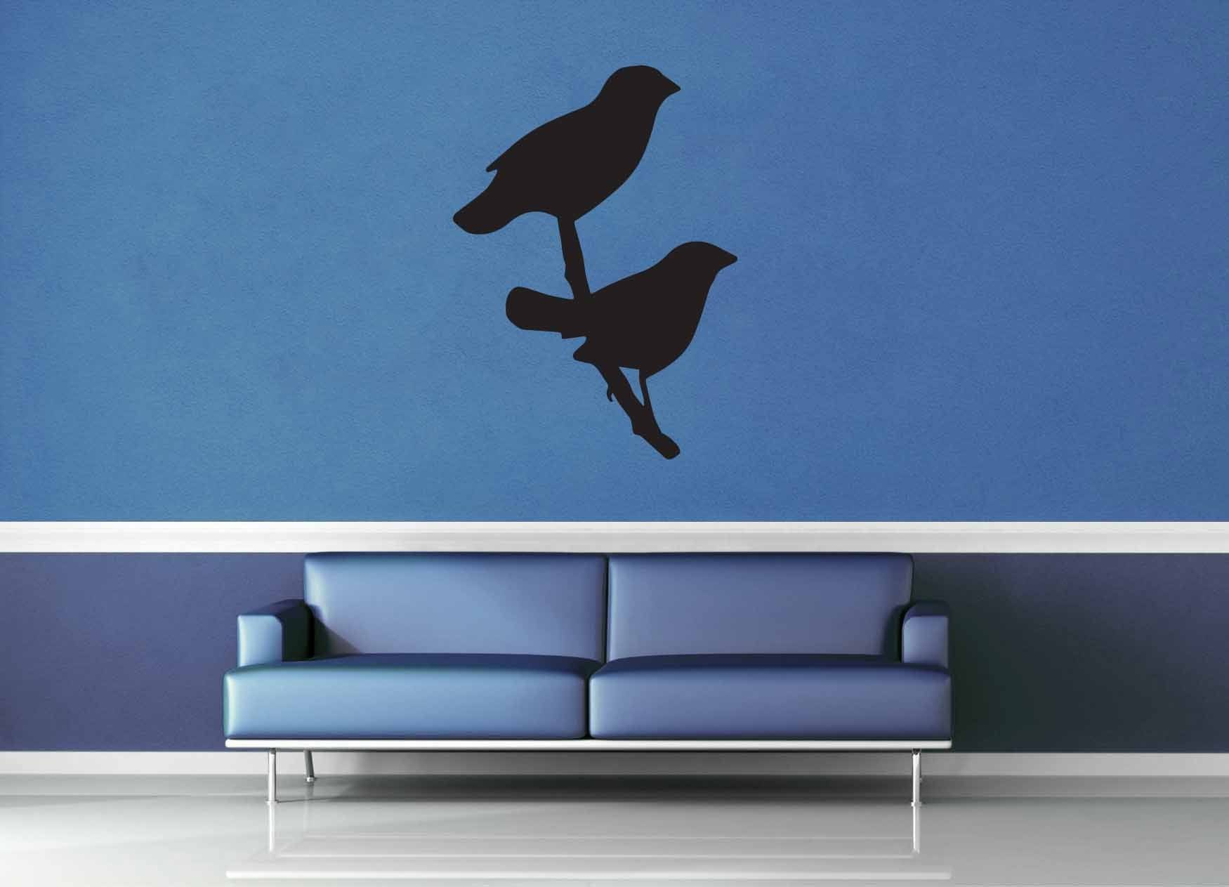 Love Birds Silhouette - Wall Decal