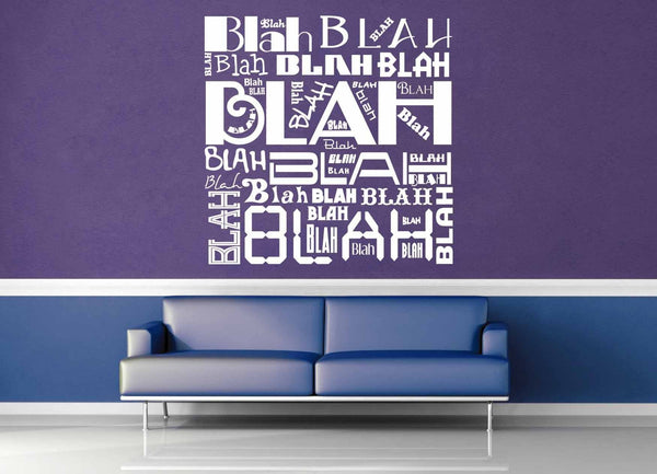 Blah Blah Blah - Wall Decal - geekerymade