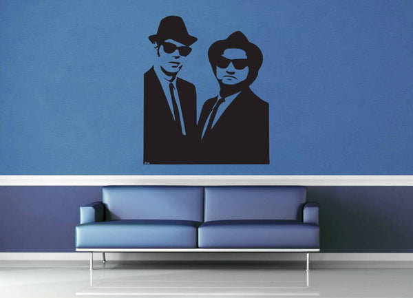 Blues Brothers Silhouette - Wall Decal - No 2 - geekerymade