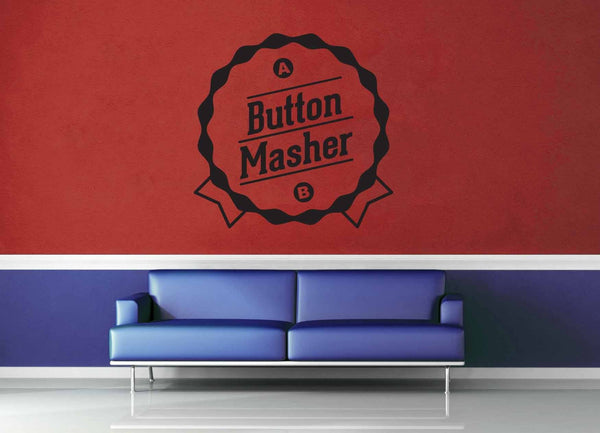 Button Masher - Gamer Décor - Wall Decal - geekerymade
