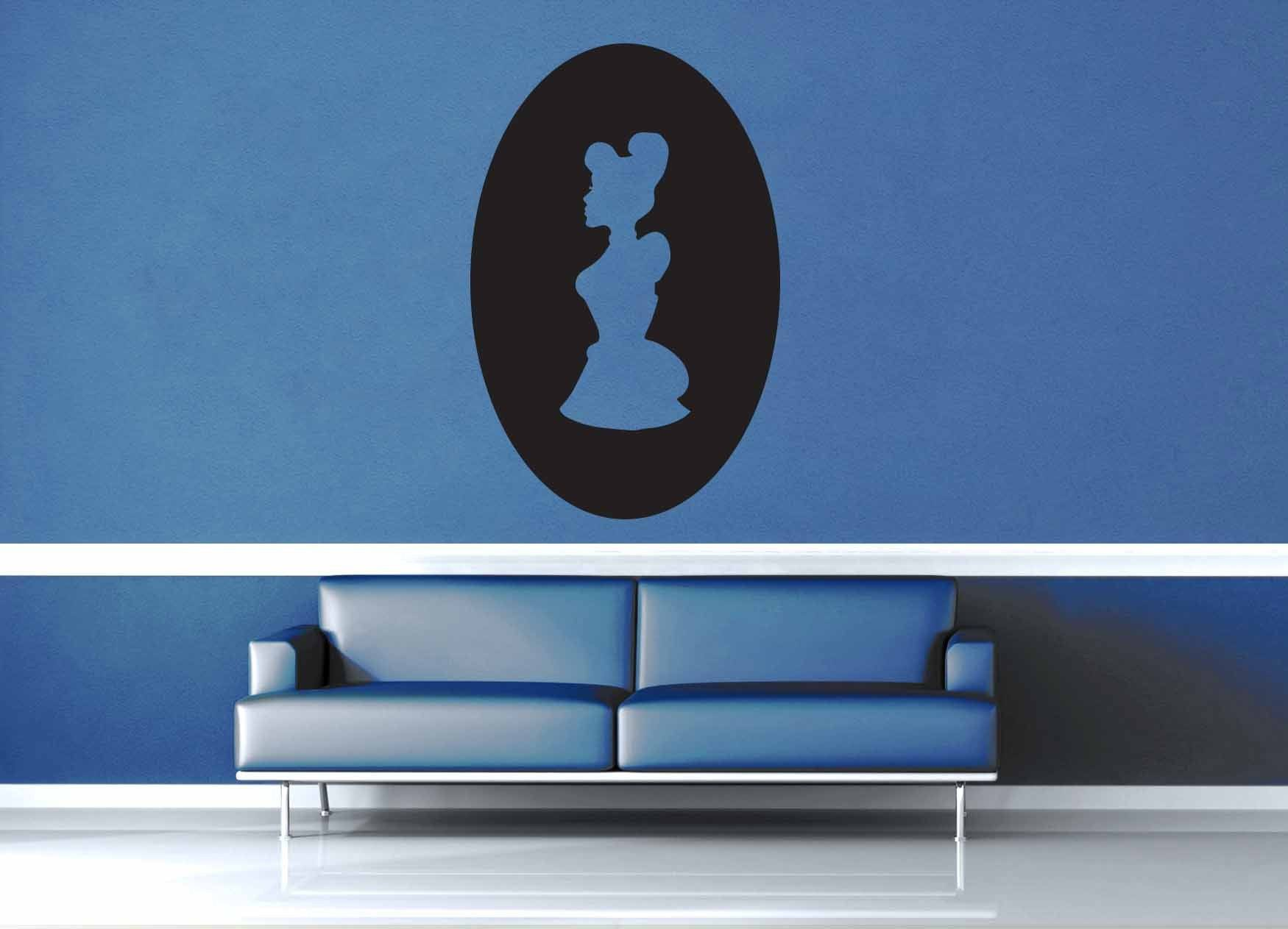 Cinderella Cameo - Wall Decal