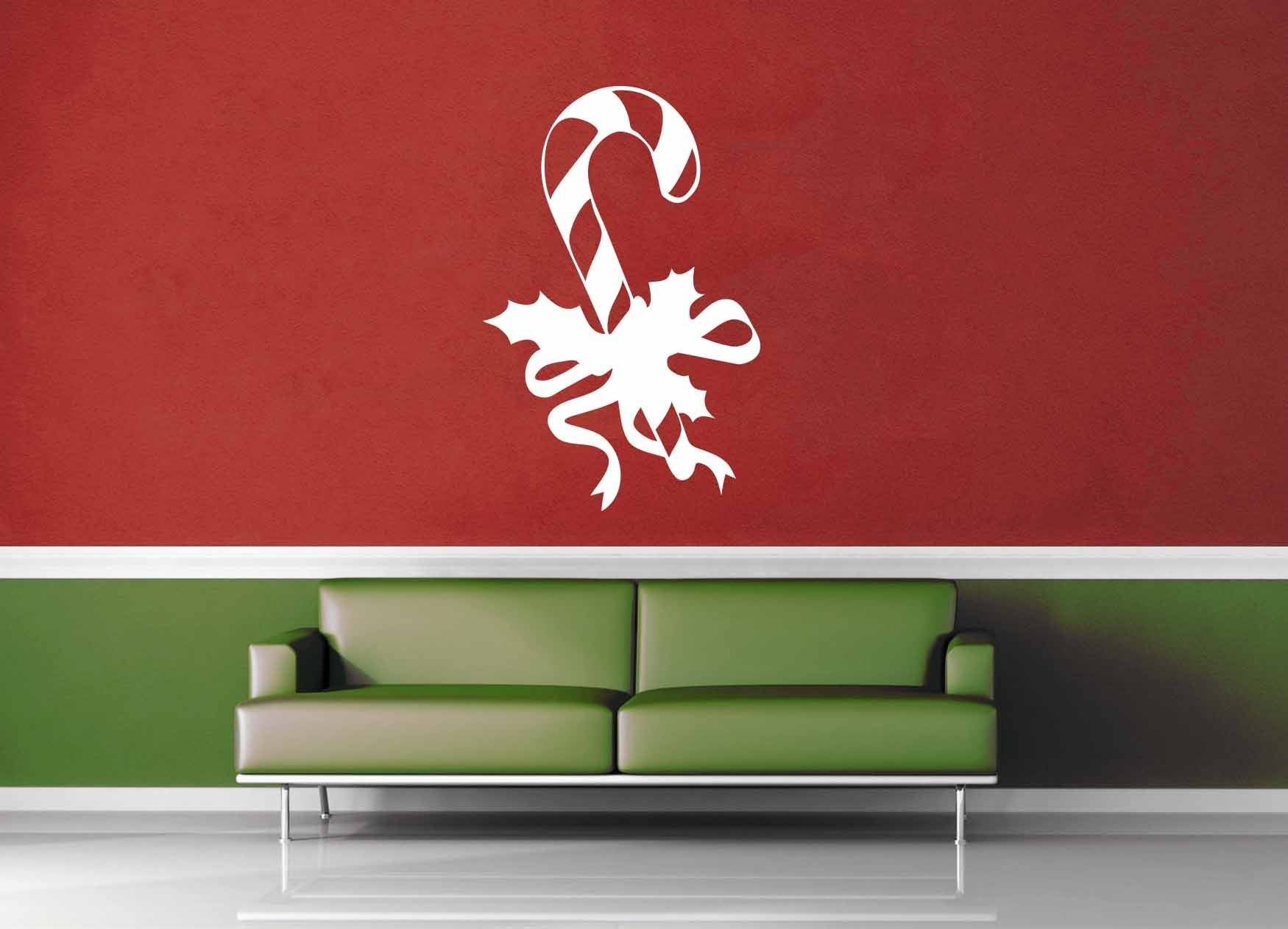 Candy Cane - Holiday Décor - Wall Decal - geekerymade