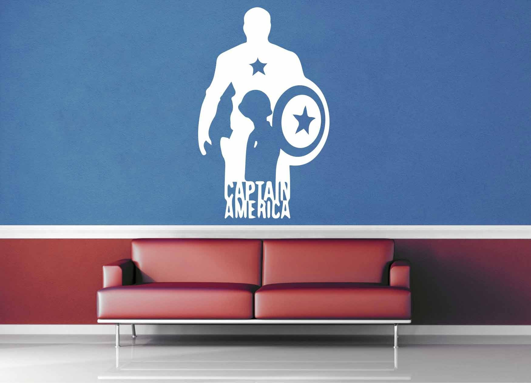 Captain America Silhouette - Comic Book - Wall Decal - No 1