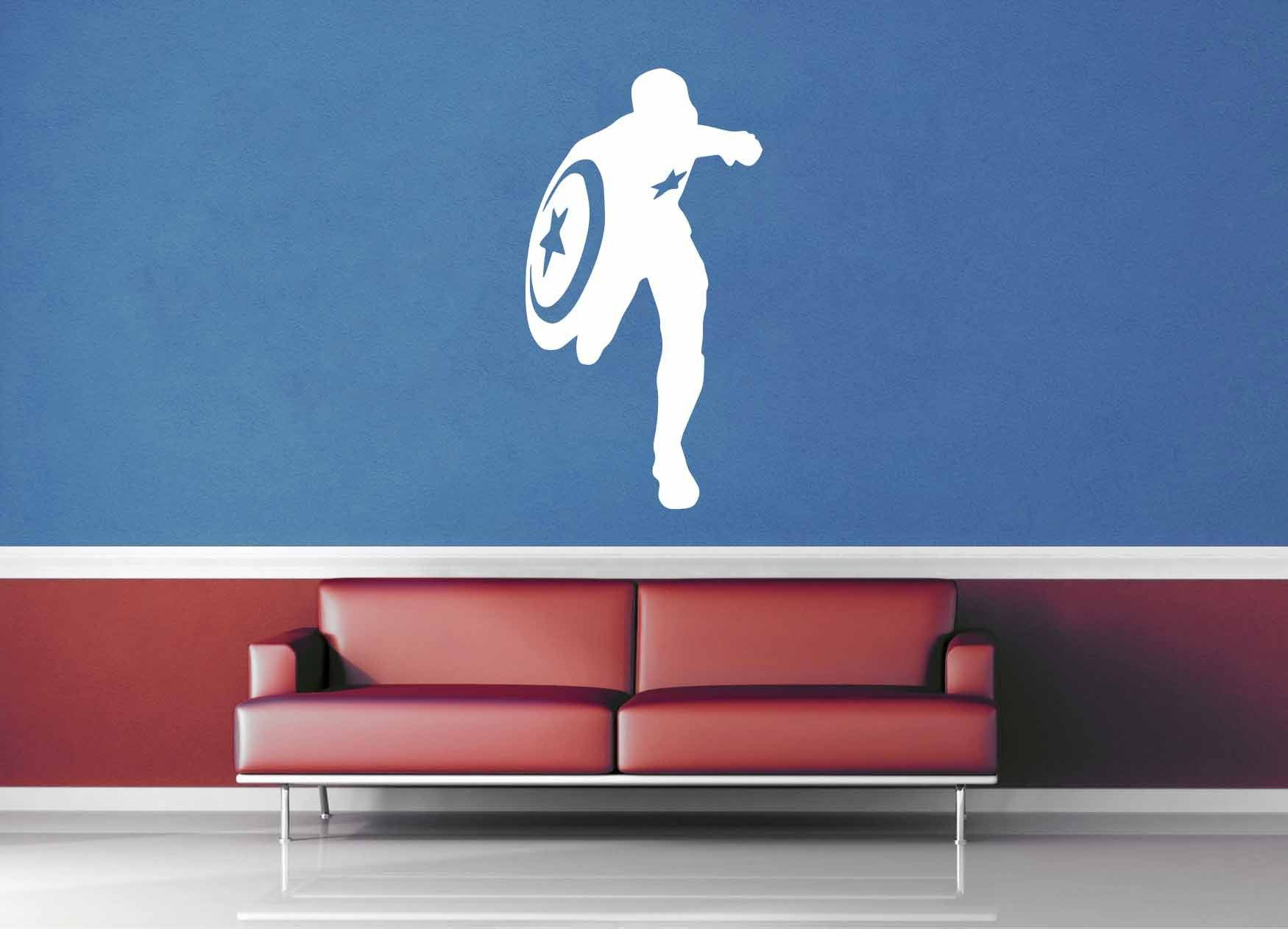 Captain America Silhouette - Comic Book - Wall Decal - No 2