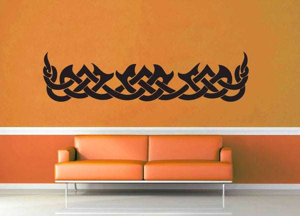 Flame Band - Celtic Knot - Wall Decal - geekerymade