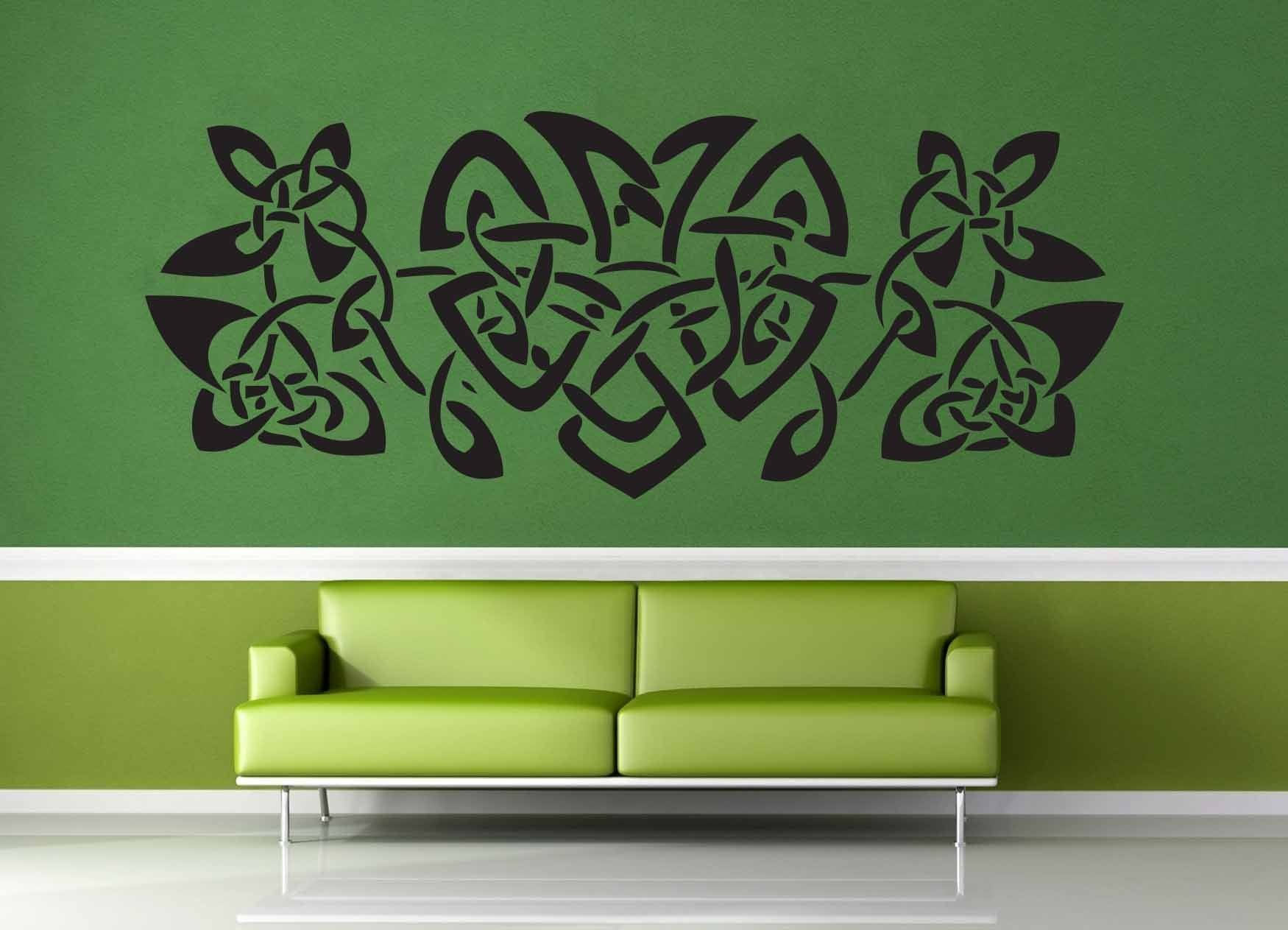 Heart and Leaf Band - Celtic Knot - Wall Decal
