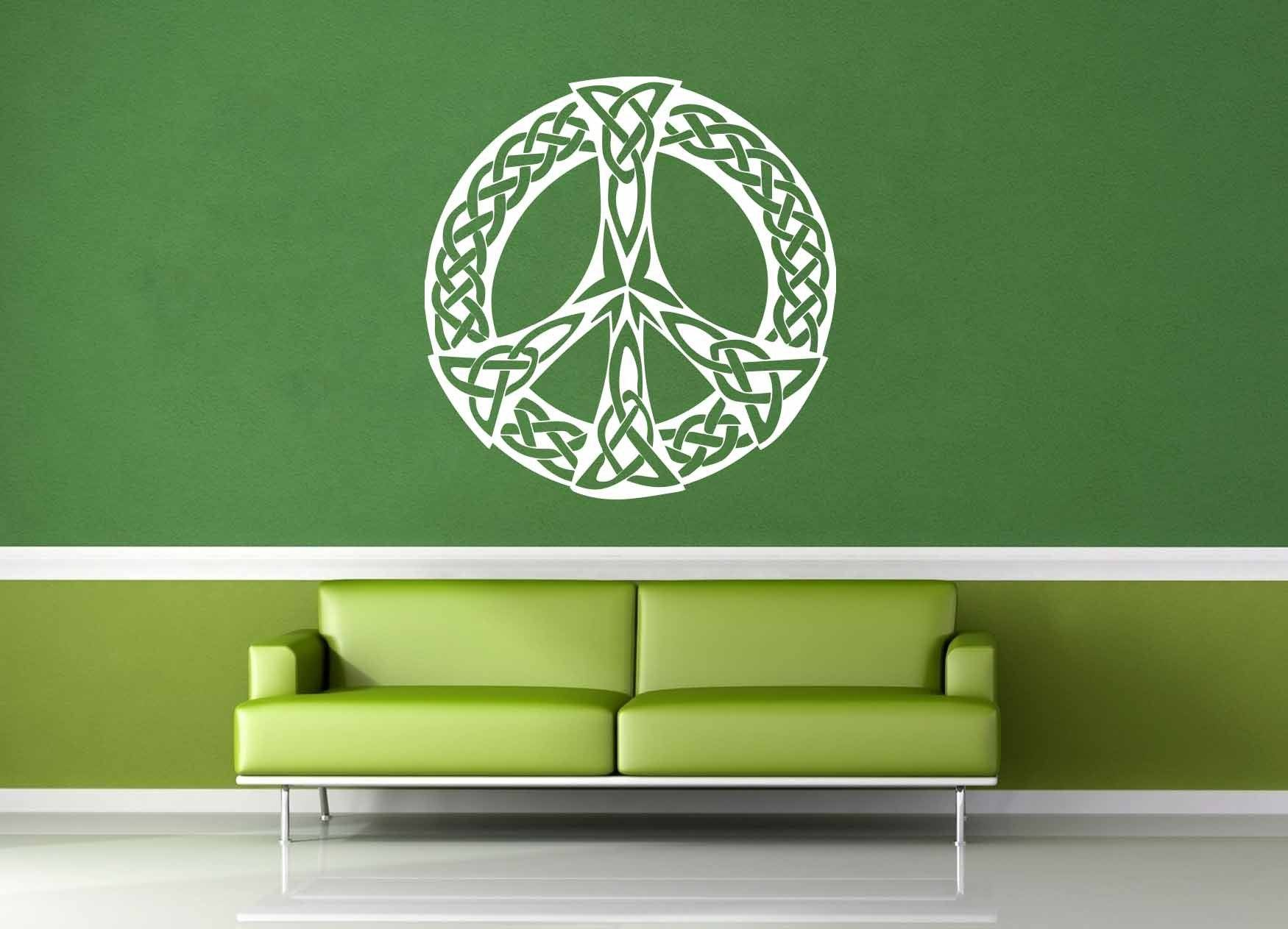 Peace Sign - Celtic Knot - Wall Decal - geekerymade