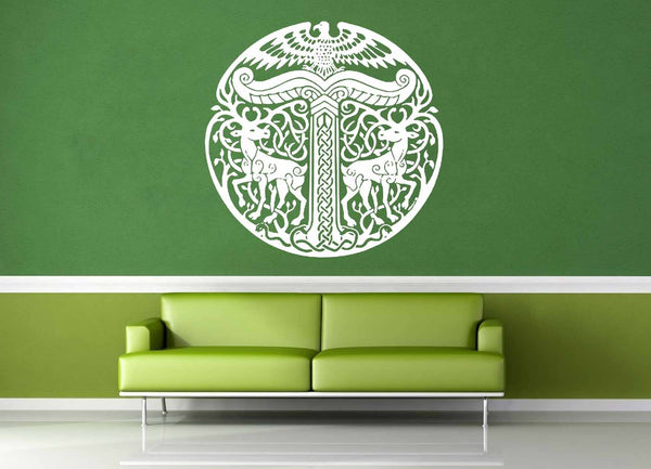 Yggdrasil - Norse Mythology - Celtic Knot - Wall Decal - No 1 - geekerymade