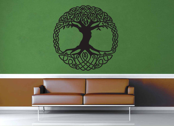 Yggdrasil - Norse Mythology - Celtic Knot - Wall Decal - No 2 - geekerymade