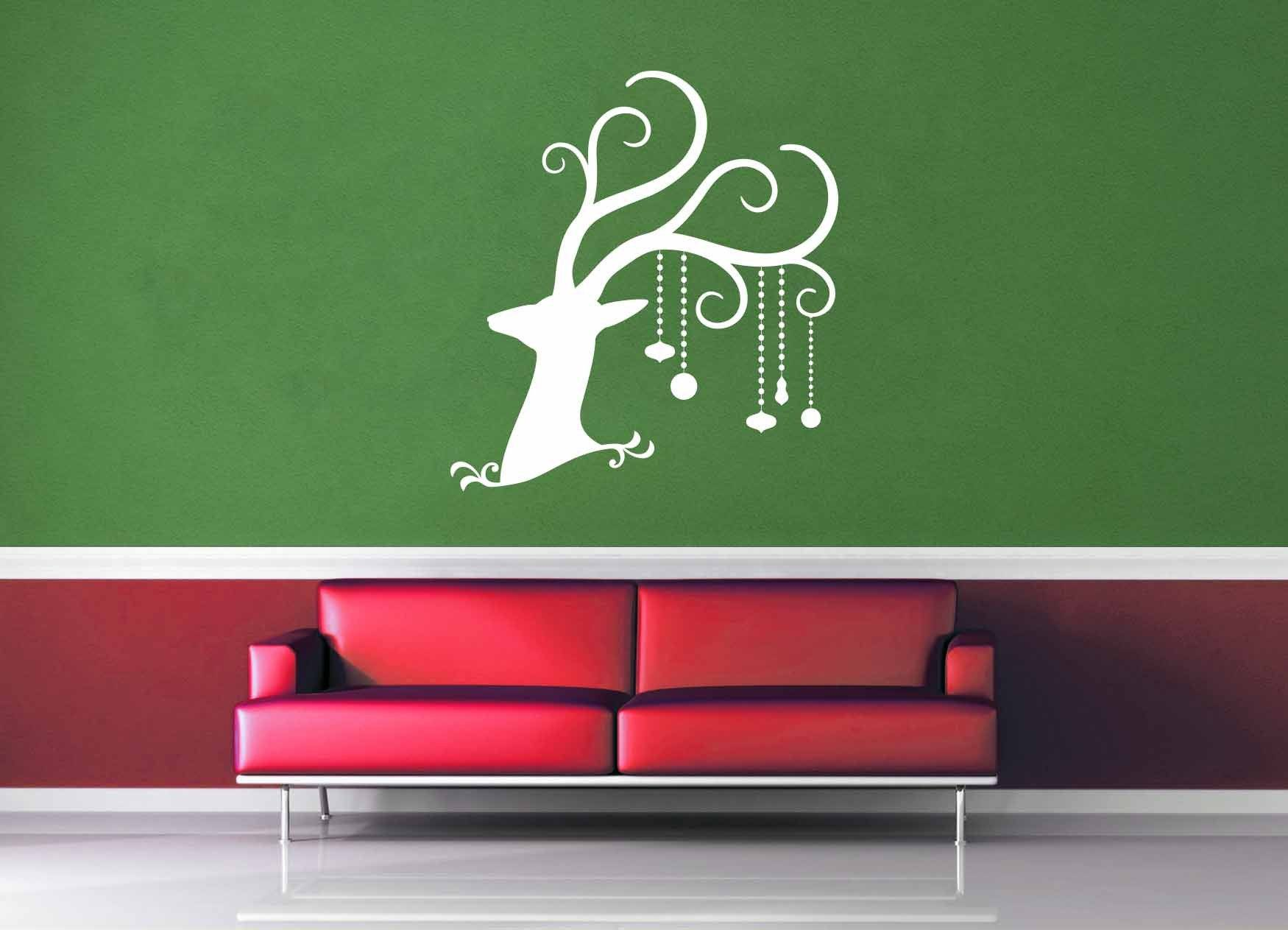 Deer - Christmas Decoration - Wall Decal - No 2