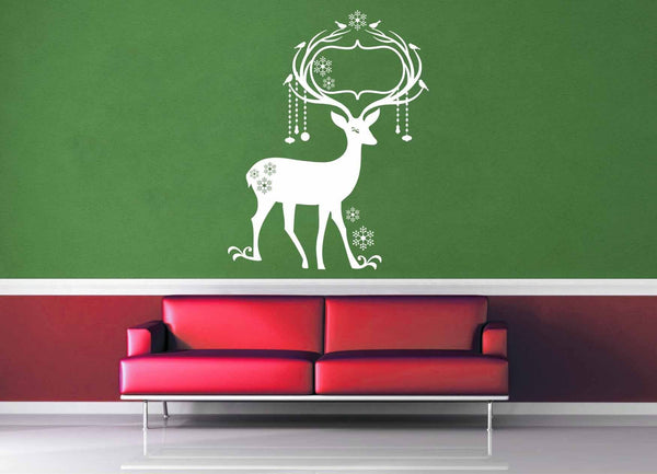 Deer - Christmas Decoration - Wall Decal - No 3
